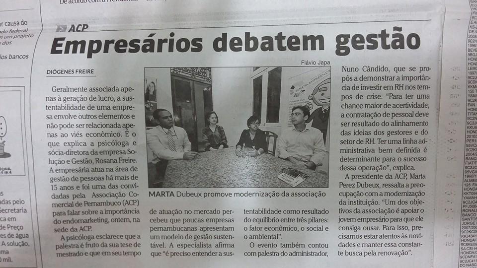 Palestra na Associação Comercial de Pernambuco